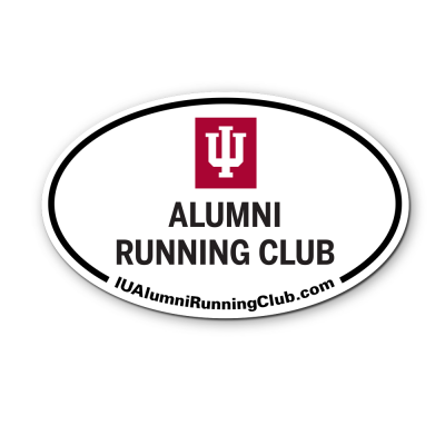 IU Running Club Oval Decal