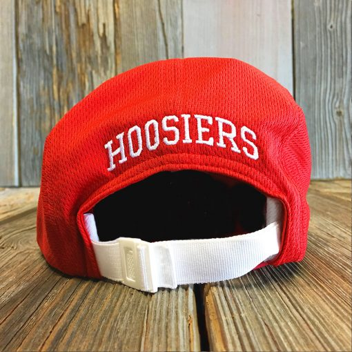 red IU hat back